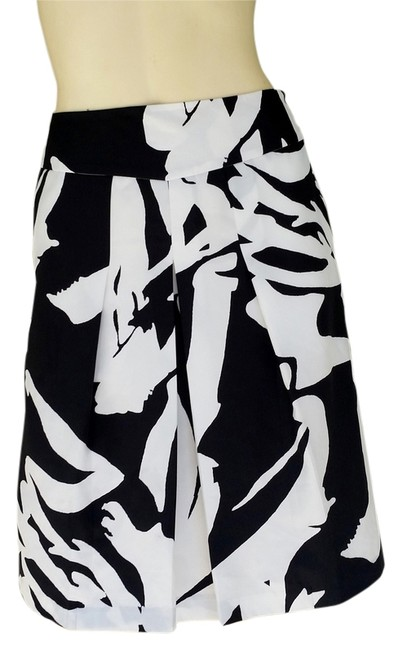 Ann Taylor Silky Skirt Black & White