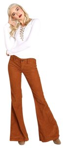 Free People Awesome Color Flare Pants Copper Oxide
