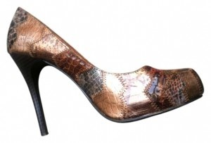 Anne Michelle Copper/Brown Pumps