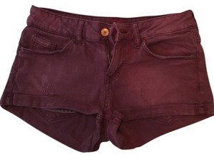 H&M Short Summer Mini/Short Shorts Plum
