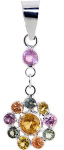 ABC Jewelry Multi color gemstone pendant