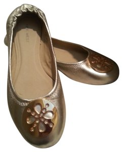 Nine West Metallic Slip Ons Gold Flats