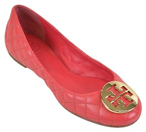 Tory Burch Leather Ballet Pink Gold Carnival/Gold Flats