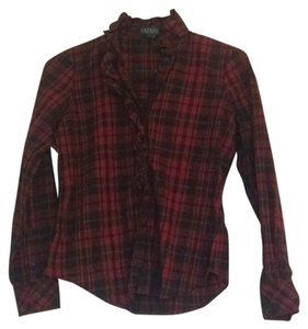 Ralph Lauren Button Down Shirt Red