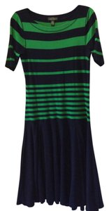 Ralph Lauren short dress Navy / green on Tradesy