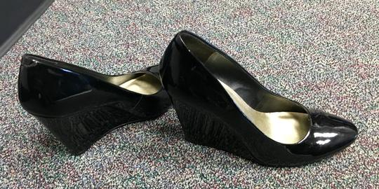 Jessica Simpson Black Patent Leather Wedges Image 3