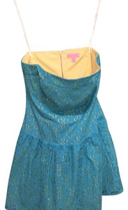 Lilly Pulitzer short dress Blue and yellow on Tradesy
