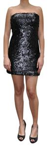 Sparkle & Fade Sequin Strapless Party Dress