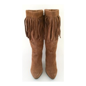 Bakers Suede Leather Boot Fringe Tan Boots