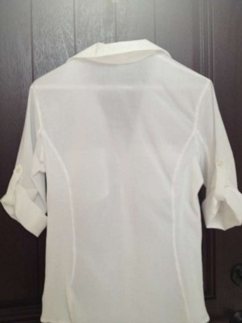 James Perse Cotton Half Sleeve Shirt Top white