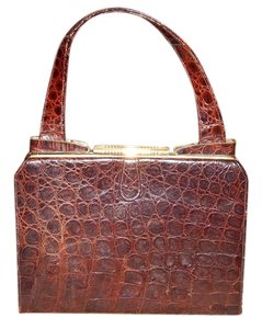 Leather Purse Satchel in Brown