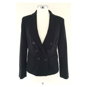 Anne Klein Zipper Silver Hardware BLACK Blazer
