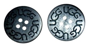 UGG Australia TWO (2) Replacement BLACK UGG buttons