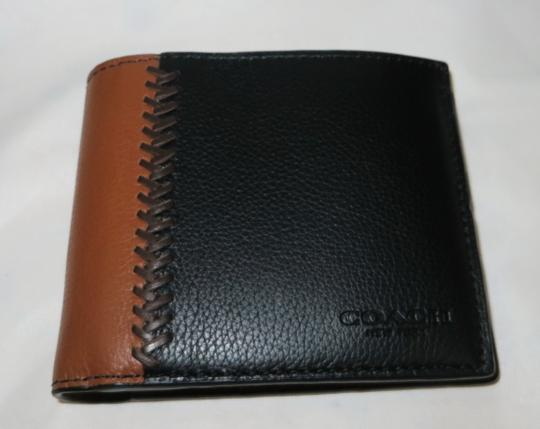 Coach Coach men's COMPACT Leather ID WALLET Image 2
