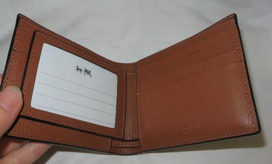 Coach Coach men's COMPACT Leather ID WALLET Image 5