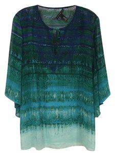 Chico's Top Blue, Green