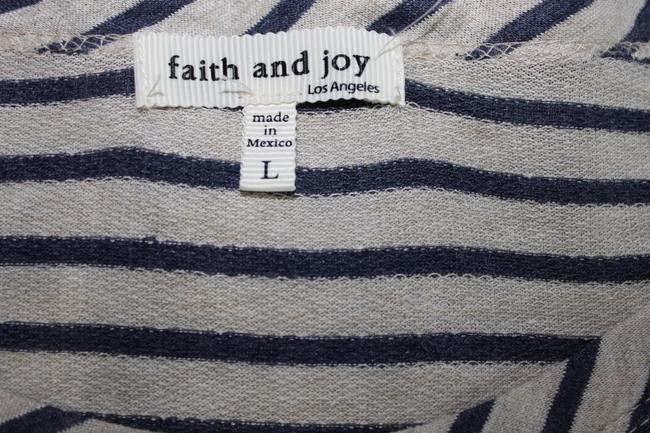 Faith and Joy Top Gray/Navy/Ivory