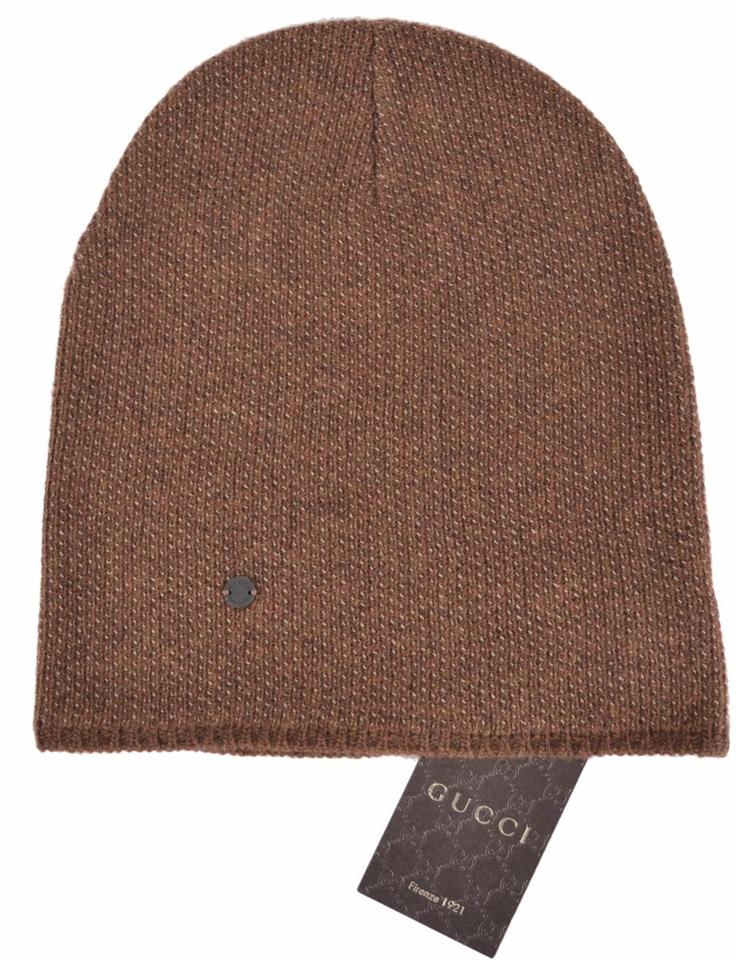 Gucci Brown New 352350 Men s Wool Cashmere Beanie Ski Winter Xl Hat -  Tradesy 964cc194323