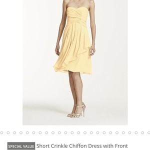 David's Bridal Yellow Dress