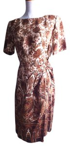 Liz Claiborne short dress Silk Multi Color Knee Length on Tradesy
