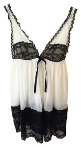 Victoria's Secret short dress Black/White Vs Babydoll Lingerie on Tradesy
