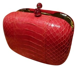 Kotur Python Evening Color Holiday Raspberry Clutch