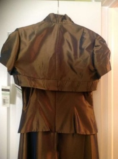 Cachet Bronze 2 Piece Wedding Dress Size 8 (M)