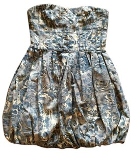 Joie short dress Light &dark blue baby doll top Print on Tradesy