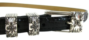 Brighton Brighton Black Thin Leather Belt Sz M # C3503