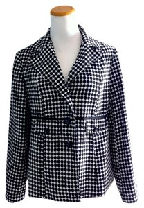 Cynthia Rowley Black White Casual Black/white Blazer
