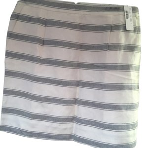 J.Crew Mini Skirt White with black stripes