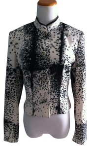 Alberto Makali Leather Black White Black/white Blazer