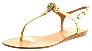 Dolce Vita Isolde Thong Leather Gold Sandals