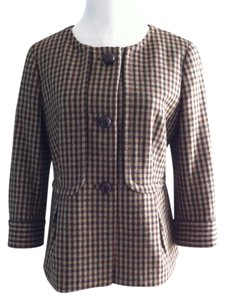 Talbots Tweed Wool Brown Blazer