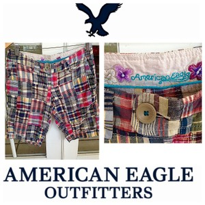 American Eagle Outfitters Bermuda Low Rise Summer Bermuda Shorts Plaid