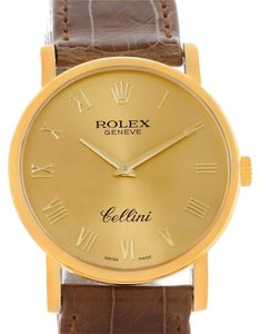 Rolex Rolex Cellini Classic Mens 18K Yellow Gold Watch 5115