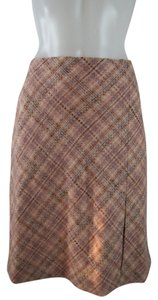 Ann Taylor LOFT Skirt Plaid Pink