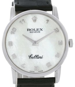 Rolex Rolex Cellini Classic Mens 18k White Gold MOP Dial Watch 5116