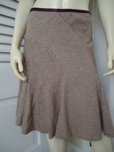 Banana Republic 4p Wool Stretch Petite Flared Tweed Soo Cute Skirt Shades of Brown
