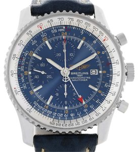 Breitling Breitling Navitimer World Chrono GMT Blue Dial Steel Watch A24322