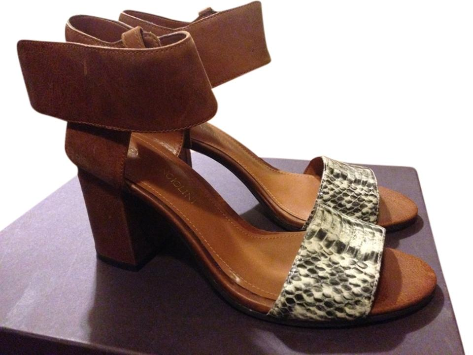 471fa0939fd Enzo Angiolini Brown Snake Skin Windell Sandals Size US 6.5 Regular ...