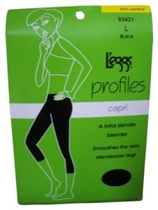 L'eggs 2 pairs of L`eggs profiles capri #93431 L BLACK