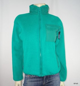 Patagonia Patagonia Aqua Blue Thermal Fleece Zip-up Athletic Jacket