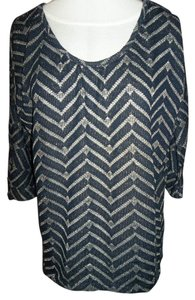 Maurices Medium Sparkle Open Back Navy Tunic