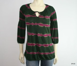 Lucky Brand Tie Dye Top Magenta Green
