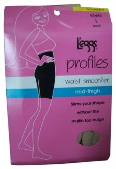 L'eggs 2 pairs of L`eggs profiles waist smoother #93445 L NUDE