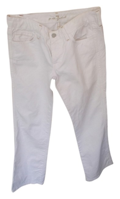 """7 For All Mankind White Coated Style #u1301060-106u #700309 """"A""""Pocket Inseam 29""""1/2"""" Boot Cut Jeans Size 28 (4, S) 7 For All Mankind White Coated Style #u1301060-106u #700309 """"A""""Pocket Inseam 29""""1/2"""" Boot Cut Jeans Size 28 (4, S) Image 1"""