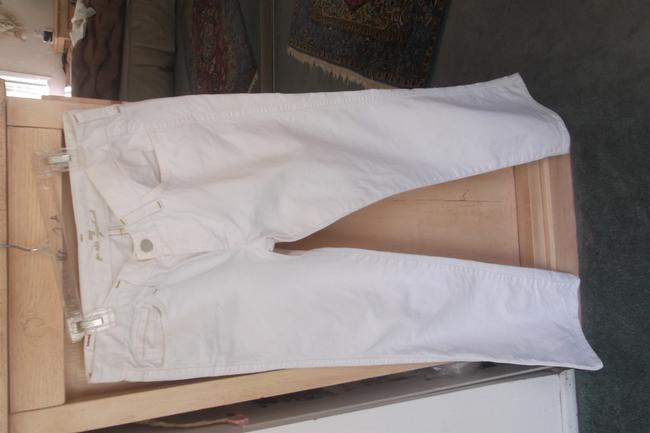 """7 For All Mankind White Coated Style #u1301060-106u #700309 """"A""""Pocket Inseam 29""""1/2"""" Boot Cut Jeans Size 28 (4, S) 7 For All Mankind White Coated Style #u1301060-106u #700309 """"A""""Pocket Inseam 29""""1/2"""" Boot Cut Jeans Size 28 (4, S) Image 5"""