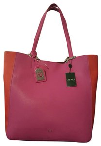Ralph Lauren Tote in Hibiscus/ Orange/ Brown