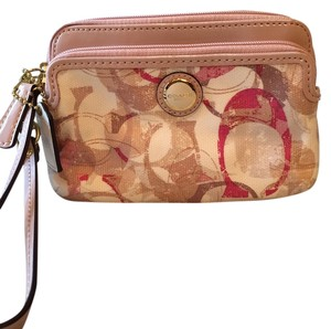 Coach Wristlet in Neutral/Multi